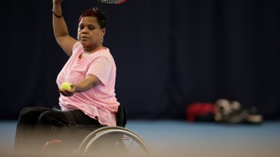 Woman playing Wheelchair Tennis from This Girl Can image set