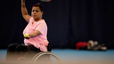 Woman playing Wheelchair Tennis (from This Girl Can set)