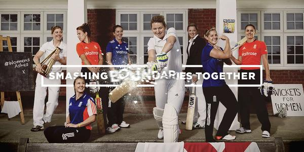 Smashing Boundaries together England Cricket Marketing campaign with England Women's Cricket team