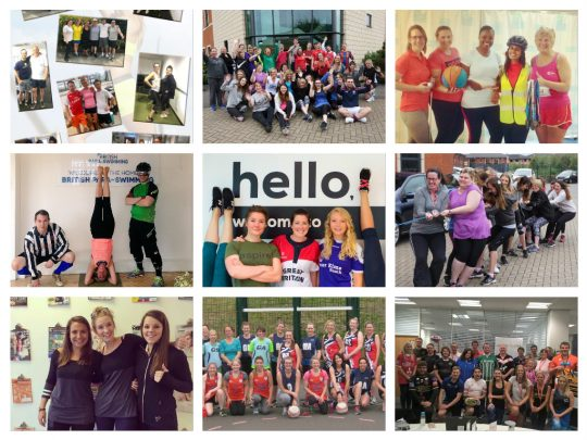 Teams dressed up in sportswear for Sports Kit Day 2017
