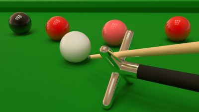 Snooker balls on table