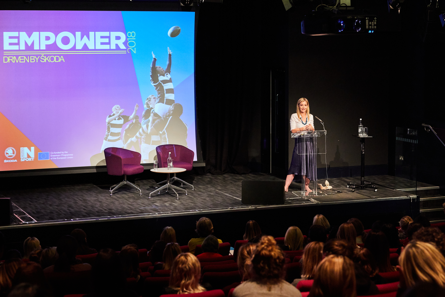 Helen Skelton presenting the final session at the Empower Conference
