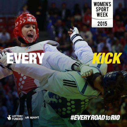 Bianca Walkden competing for Team GB - Every Kick, Women's Sport Week