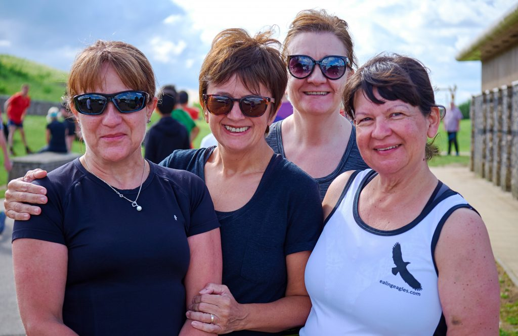 Group of women parkrunners