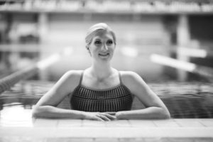 Becky Adlington black and white headshot