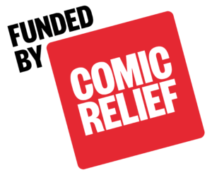 Funded by Comic Relief Logo